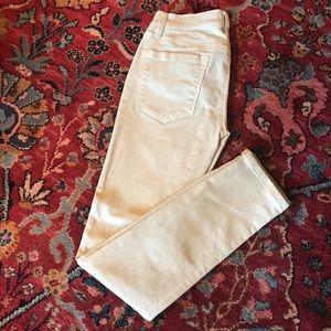 Light sea foam modern skinny Ann Taylor Loft jeans